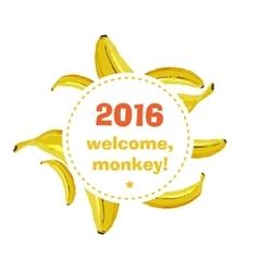 Rough banana background vector