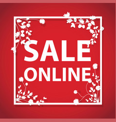 sale online arrow sign vector image