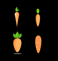 set carrots icons for logo vector image