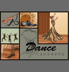 Set for dance vector