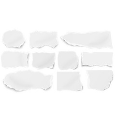 set of paper different tears scraps isolated vector image