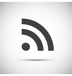 Simple flat rss icon feed symbol vector