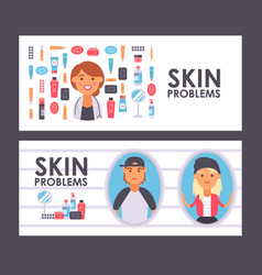 Skin care banner vector