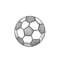 soccer ball hand drawn outline doodle icon vector image