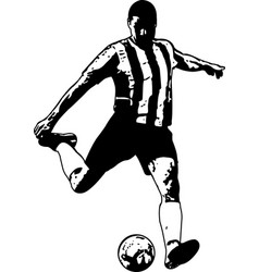 Soccer player sketch vector