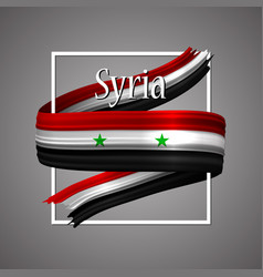 Syria flag official national syrian 3d vector