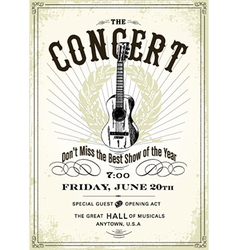 Vintage concert poster vector