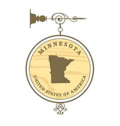 Vintage label Minnesota vector