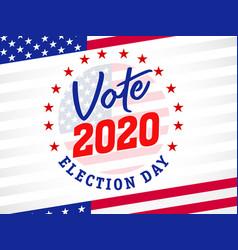 Vote 2020 presidential election usa emblem banner vector