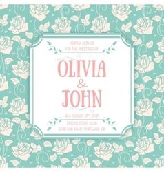 Wedding invitation card invitation card vector image
