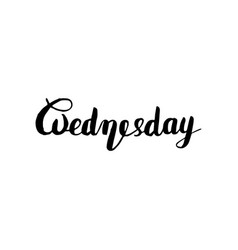 wednesday lettering typography for calendar or vector image