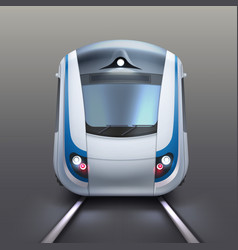 White electric train vector