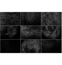 White noise granules set elements vector