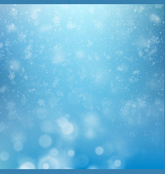 Winter background falling snowflakes over winter vector