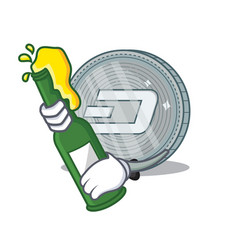 With beer dash coin character cartoon vector