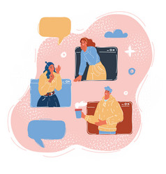 Woman and man in massage vector