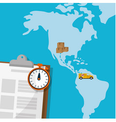 worldwide delivery service vector image
