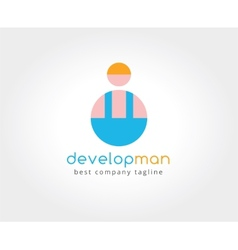 Abstract developer logo icon concept Logotype vector image vector image