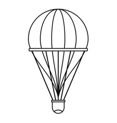 aerostat icon outline style vector image