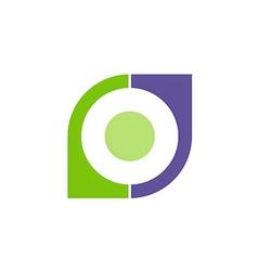 business shape geometry company logo vector image vector image
