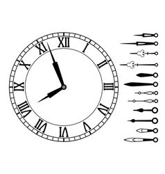 clock dial with roman numbers vector image