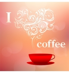 I love coffee concept vector image
