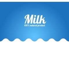 Milk Wave Background Label Concept vector image