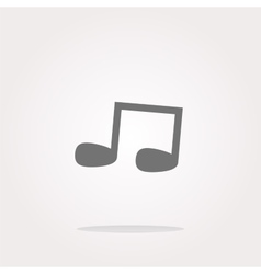 note full music web icon button vector image