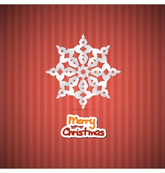 Retro Red Abstract Merry Christmas Background vector image