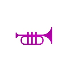 Trumpet icon Flat vector image vector image