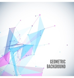 Abstract geometric background with circles lines vector