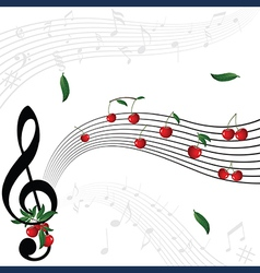 berry music vector image vector image