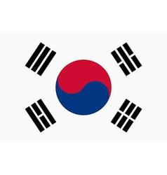 Flag of Republic of Korea vector image