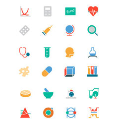 Science Colored Icons 2 vector image