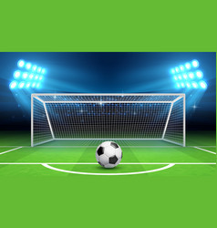 soccer football championship background vector image