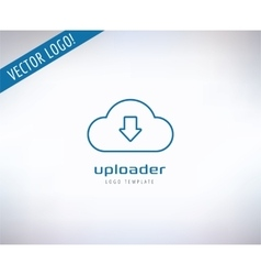 Cloud Icon Logo Store App or Developers vector image