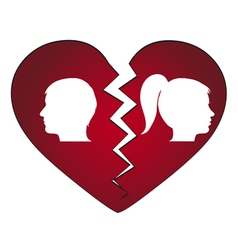 couple getting divorced vector image vector image