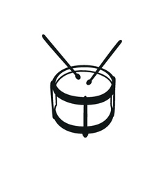 Drums musical instruments drumstick drum vector image vector image
