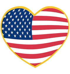 I love America heart vector image vector image