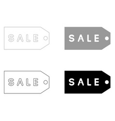 label sale the black and grey color set icon vector image vector image