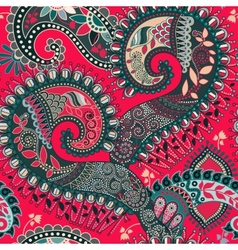 Paisley seamless pattern Ethnic ornamental floral vector image
