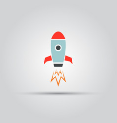 rocket isolated colored icon vector image vector image