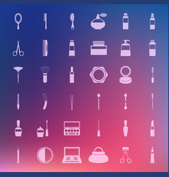set cosmetic icons vector image