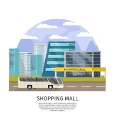 Shopping Mall Orthogonal Design vector image vector image