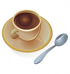 cup of coffee vector vector image