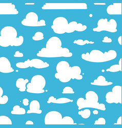 different clouds on blue sky seamless vector image vector image