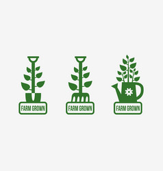 farm grown logo vector image