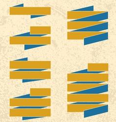 Grunge ribbons vector image