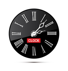 Retro Black Abstract Alarm Clock Isolated on White vector image vector image