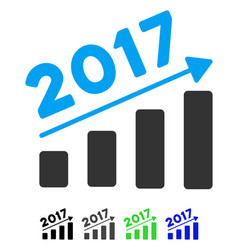 2017 bar chart trend flat icon vector